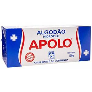 Apolo Algodo Em Disco Com Ziplock 70g,