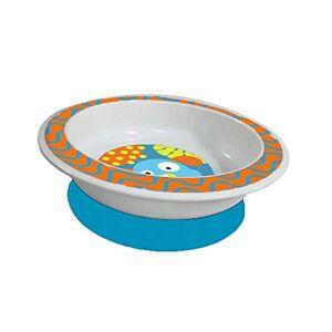 Multikids Baby Prato Raso com Ventosa Funny Meal, , Azul