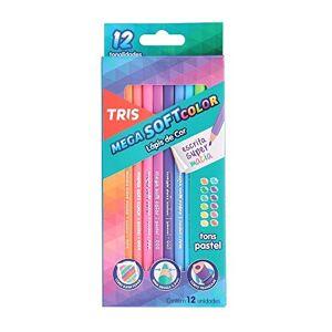 Tris Lápis De Cor 12 Cores Mega Soft Tons Cor Pastel