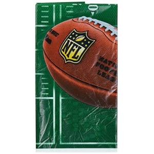 """DesignWare NFL Drive Collection"""" Printed Plastic Table Cover for Party"""