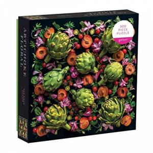 More Galison 500 Piece Artichoke Floral Jigsaw Puzzle for Adults and Families, Challenging Plant Puzzle with Floral Artichoke Theme, Multicolor (073535779X)