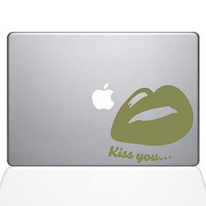 The Decal Guru O decalque Guru Kiss Your Lips Decalque adesivo de vinil, MacBook Air de 13 polegadas, ouro (1441-MAC-13A-G)