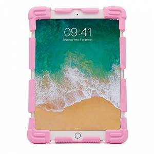 Geonav Capa Universal protetora para tablets 7-7.9 polegadas, Silicone, anti choque, base de apoio, Rosa, UN779P,