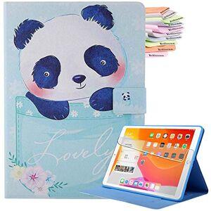 Billionn Capa  para iPad Air 4 gerao 2020/iPad Air 4 10,9 polegadas 2020, capa inteligente ultrafina, hibernar/despertar automtica, com bolso, panda