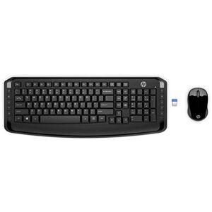 HP Kit Tecl e Mouse sem Fio 300, , Teclados, Preto