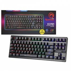 MARVO Teclado Gamer Mecanico  RGB Blue Scorpion KG901 Preto