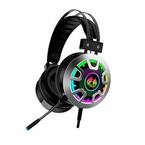 DIGITAL Headset Gamer Fone de Ouvido com LED MH5 Preto