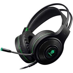 Evolut Headset Gamer  Temis Preto e Verde USB e P2 Com Microfone e Iluminao EG-301GR