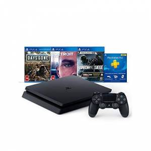 Sony Console Ps4 Slim 1tb Hits Bundle 5 3 Jogos e Controle Dualshock 4 CUH-2214B