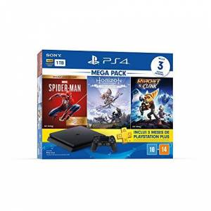 Sony Console PlayStation 4 Mega Pack 15 Spider-Man: Goty Edition, Horizon Zero Dawn: Complete Edition e Ratchet & Clank
