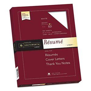 Essendant, Inc Southworth 100% Cotton Resume Paper ,PAPER,100%COT32#,100SH,WE