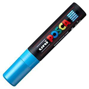 Uni-Ball Caneta Marcador Artístico  Posca Extra Grosso 15 mm Azul Claro PC-17K