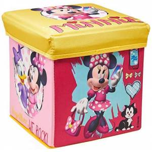 Mimo Style Porta Objeto Banquinho Minnie  Rosa/Amarelo