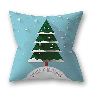 SZMYLED Capas de almofada de natal 18 x 18,Decorativo pele de polister Peach Impresso Srie Natal lance fronha 22# 45 * 45 cm