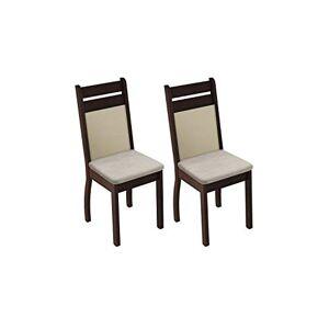 Madesa Conjunto 2 Cadeiras Provena Tabaco E Sude Prola