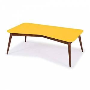 Maxima Mesa de Centro Retr M  Cacau/Amarelo