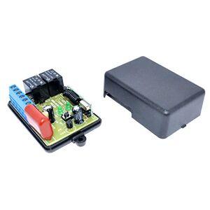 MSS ELETRÔNICA Módulo relê para automação residencial RF 433Mhz 2 canais com entrada para interruptor 127V Broadlink- touchlight geeklink