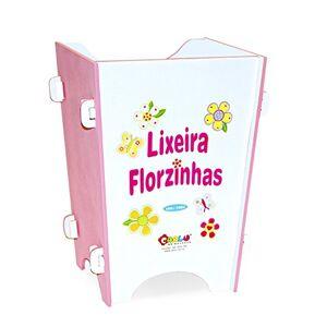 HONEYBE ME Lixeira Florzinhas em MDF Branco/Rosa 1664 Carlu