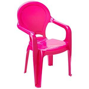 Tramontina Cadeira Plástica Monobloco com Braços Infantil com Adesivo Catty  Rosa