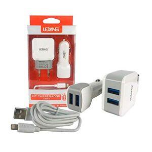 Lelong Kit Carregador Iphone Veicular e Parede