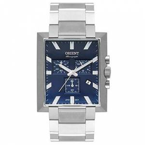 Orient Relógio  Masculino Ref: Gbssc011 D1sx Cronógrafo Retangular Prateado