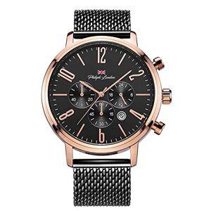 Philiph London Relógio  Masculino Ref: Pl80165613m Pr Cronógrafo Bicolor