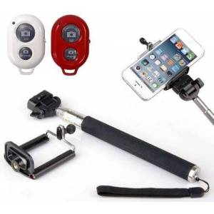 Desconhecido Bastão Selfie Monopod Com Controle Remoto Bluetooth