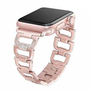 LTIMPORTS Pulseira Luxury para Apple Watch 4 44mm e 42mm Marca  (Rose Gold)