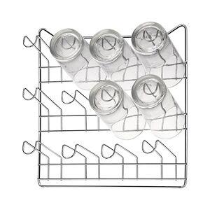 Arthi Porta Copos de Parede em Aço para 12 Unidades Cromado