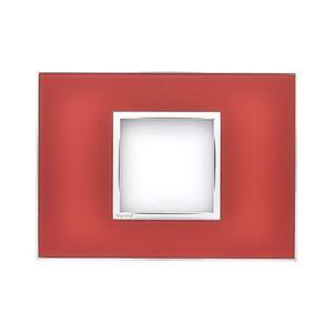 Placa para 2 Postos Arteor Mirror Red 4x2