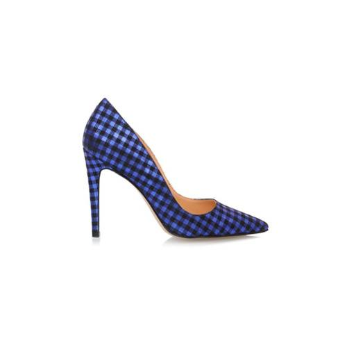 Luiza Barcelos Scarpin xadrez bico fino - Azul