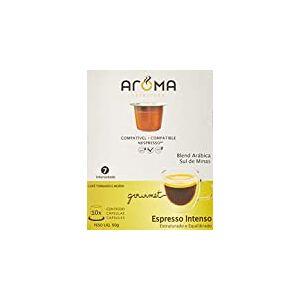 Aroma Selezione Cápsulas de Café Espresso Intenso, Compatível com Nespresso, Contém 10 Cápsulas