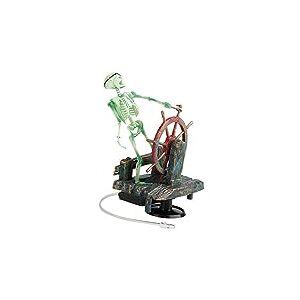 Jili Online Esqueleto de resina borbulhante para bomba de ar em enfeite de roda d'água para decoração de fundo de aquário de peixe