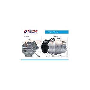 COMPRESSOR CVC 125CC GOL PARATI SAVEIRO G3 G4 1.6 1.8 2002 ATE 2009 PARATI G3 2.0 2000 ATE 2004 5X0820803C Delphi 10045
