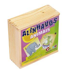 Carlu Jogo Alinhavos De Animais Carlu Com 10 Cadarço E 10 Bases