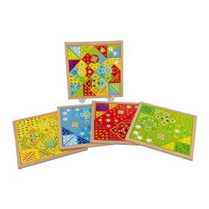 Carlu Kit Mosaico Fantástico Carlu Com 144 Peças MDF