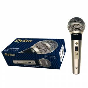 Dylan Microfone Dinâmico Com Cabo 3m Dylan DLS-8 Champagne