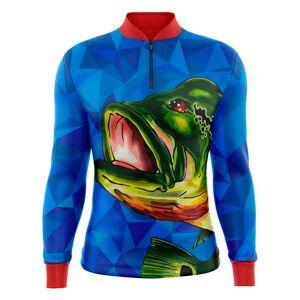 CR Sublime Camiseta De Pesca CR Sublime CRPM03UV50 Tucunaré Gola C/ Zíper Azul