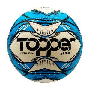 Topper Bola De Futsal Topper Slick Branco E Azul