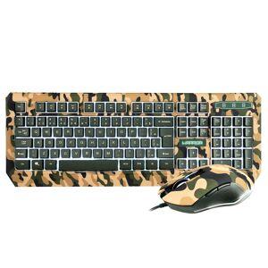 Multilaser Conjunto Teclado E Mouse Gamer Multilaser Warrior Kyler LED Verde