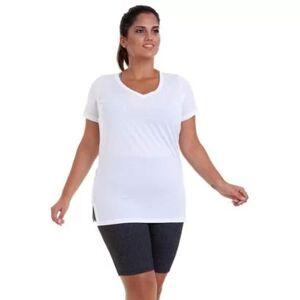 Best Fit Blusa Dry Plus Size Best Fit Feminina - Feminino - Branco - Size: G3