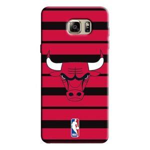 Capinha para Celular NBA - Samsung Galaxy Note 5 - Chicago Bulls - E30 - Unissex  - Vermelho+Preto