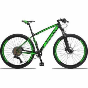 Bicicleta 29 Dropp Z3 Kit Absolut 12v Hidrulica Trava Guido - Unissex  - Preto+verde