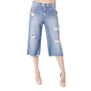 Calça Jeans Cropped Cantão - Feminino-Azul