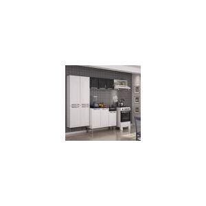 Cozinha Compacta Rose Com Balcão 3 Portas 1 Gaveta Em Aço - Preto