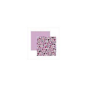 Papel Scrapbook Dupla Face Caveiras Pink Divertidas Sdf450 - Toke E Crie