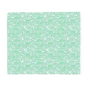 By IWOOT Green Motherboard Fleece Blanket