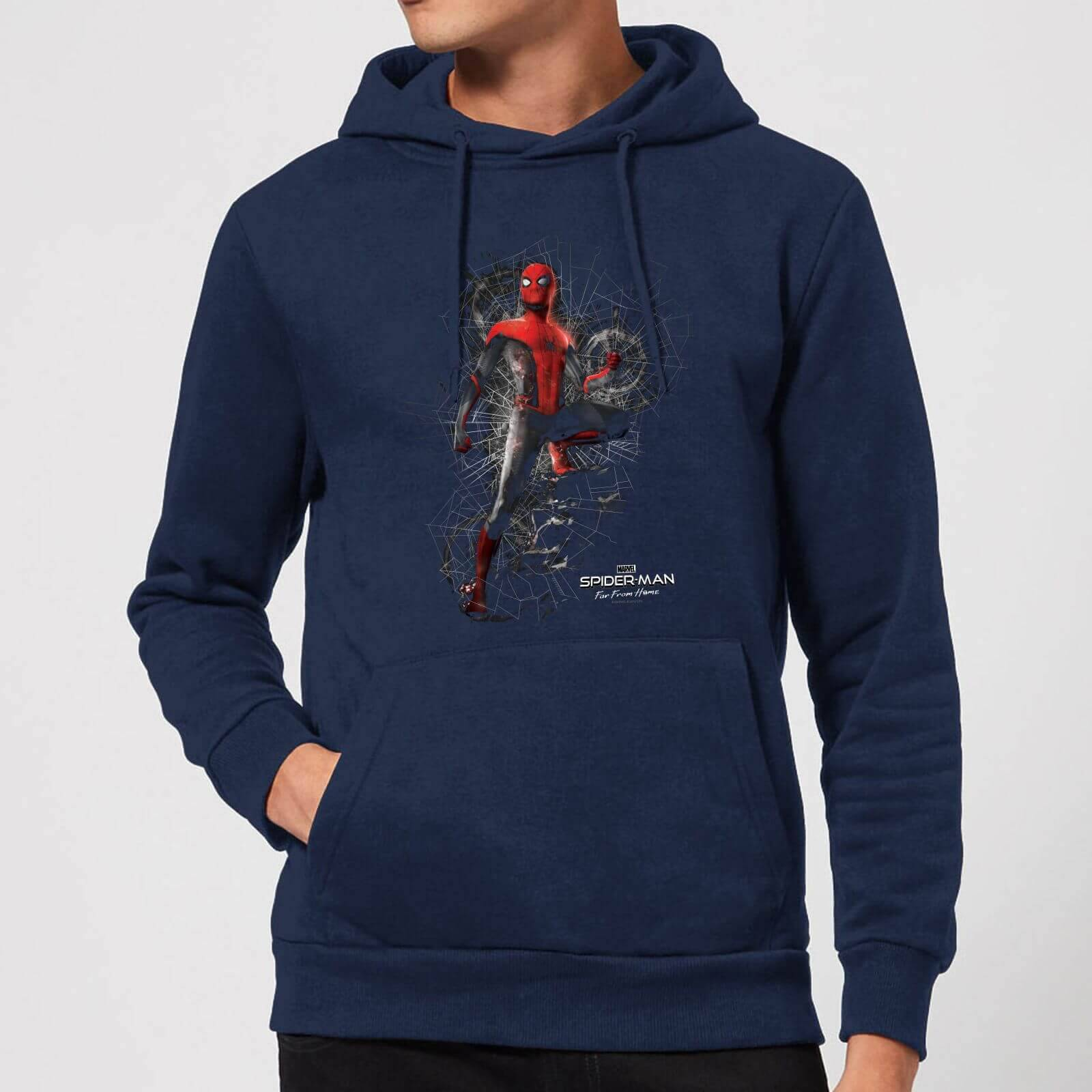 Marvel Spider-Man Far From Home Upgraded Suit Hoodie - Navy - XL - Navy