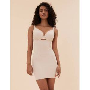 M & S Collection Marks & Spencer Firm Control Sheer Wear Your Own Bra Shaping Full Slip - Opaline - US 14 (UK 18)