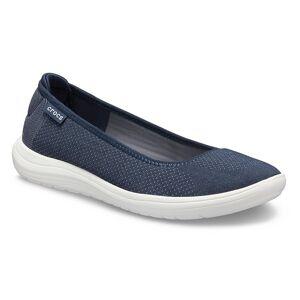 Crocs Women's Crocs Reviva™ Flat; Navy / White, W6